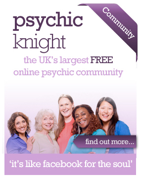 Pyschic Knight, the UK's largest FREE online psychic communtiy. It's like Facebook for the soul.